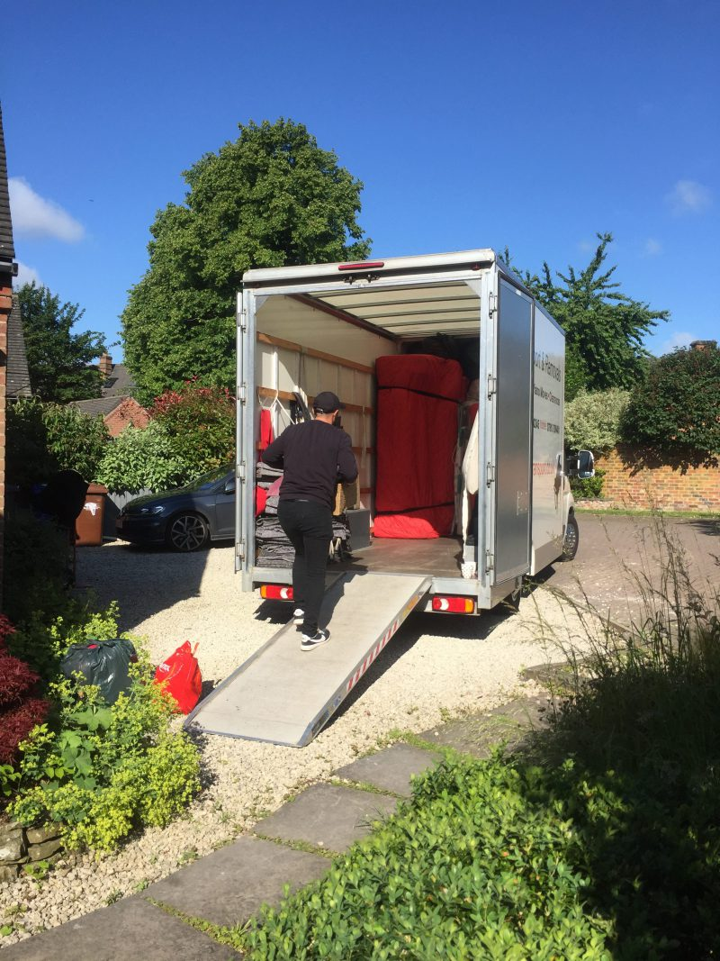 Loading a KCR Tansport & Removals van