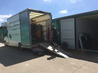 A van being loaded