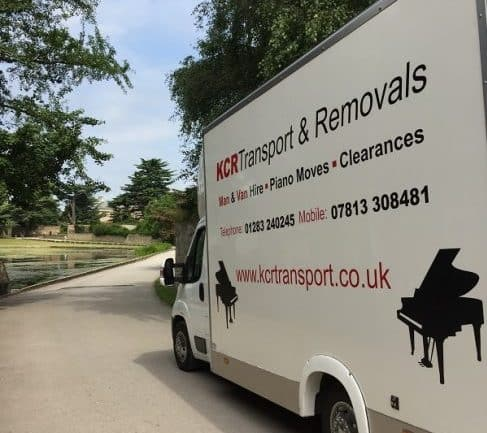 The side of a KCR Transport and Removals van